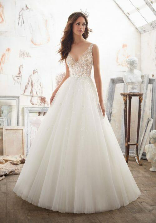 Predám krásne svadobné šaty Morilee Matilda, farba ivory/ivory.