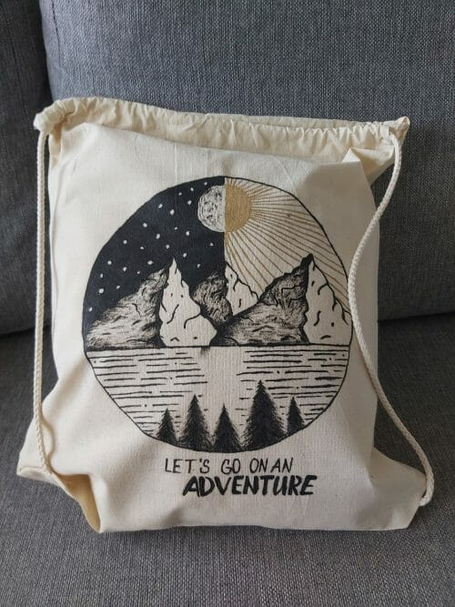 Ručne maľované tašky a batôžky