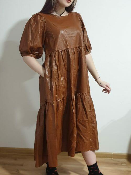 Šaty koženkové veľ. S