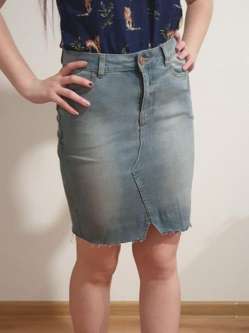 Riflová sukňa veľ. 36