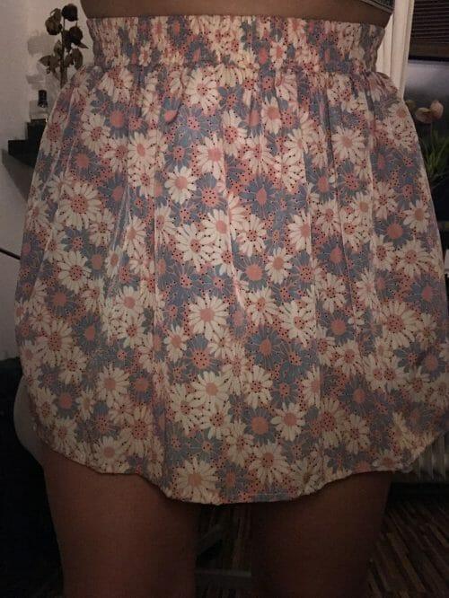 Kvietková sukňa