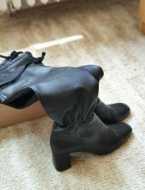 Dlhé kožené čižmy Zara, veľkosť 40
