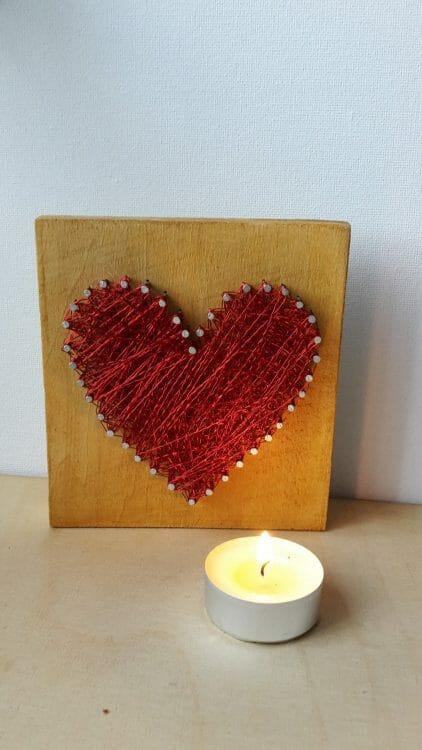 Srdce – drôtom vypletaný obraz