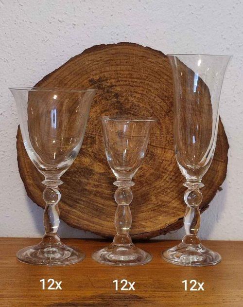 Sada sklenených pohárov