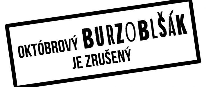 Októbrový Burzoblšák je ZRUŠENÝ!